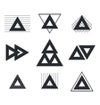 Set of geometric shapes triangles lines for your vector image