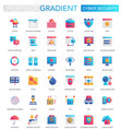 set trendy flat gradient cyber security vector image vector image