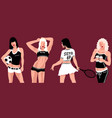 sexual sports girl vector image