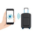 smart baggage with wireless control vector image vector image