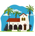 Spanish colonial house vector image vector image