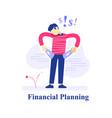 surprised person empty pockets financial loss vector image