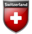switzerland flag on badge design vector image