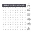 system administration editable line icons 100 vector image vector image