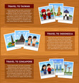 travel to asia set of horizontal web banners with vector image vector image