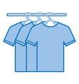 tshirts hanging in hook vector image vector image