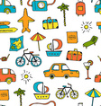 Vacation Seamless Pattern vector image vector image