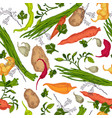 vegetable colored engraving seamless pattern vector image