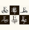 vintage set capital letter e for monograms and vector image vector image