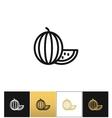 Watermelon linear icon vector image vector image