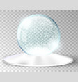 white snow globe empty template isolated on vector image vector image