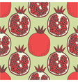 seamless fruit pattern of pomegranates vector image
