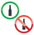 Alcohol permission signs set vector image