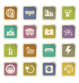 Bio fuel industry icons set