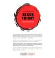 black friday sale on 25 november 2018 save tag vector image vector image