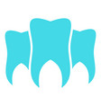 brittle tooth logo icon flat style vector image vector image