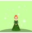 Cartoon beautiful princess with lights vector image