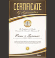 certificate of achievement or diploma template 3 vector image vector image