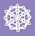 christmas paper snowflake on ultra violet vector image vector image