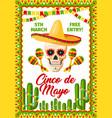 cinco de mayo mexican party invitation vector image