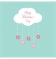 Cloud with hanging rain button drops Happy vector image vector image