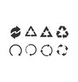 collection recycle black icons recycle icons in a vector image vector image