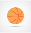 colored basketball ball symbol vector image vector image