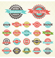 Colorful Collection of Christmas Retro Badges vector image