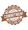commitment stamp sign seal vector image vector image