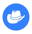 Cowboy hat icon black Singe western icon from the vector image vector image
