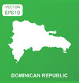 dominican republic map icon business concept vector image vector image