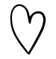 doodle heart hand drawn style for web vector image vector image