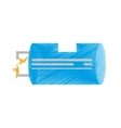 drawing blue electrical component transistor vector image