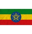 Ethiopia paper flag vector image vector image
