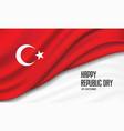 flag turkey background design vector image