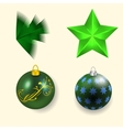 four Christmas and New Year vector image vector image