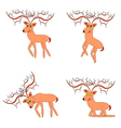 Funny deers on a white background vector image
