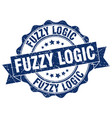 fuzzy logic stamp sign seal vector image vector image