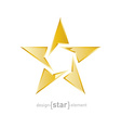Gold star on white background vector image vector image