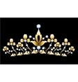 Golden tiara vector image vector image