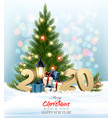 holiday christmas background with a colorful vector image vector image
