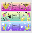 horizontal banners set with gold glitter elements vector image