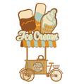 ice cream on wheels vector image vector image