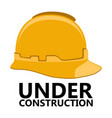 isolated protection helmet icon vector image