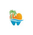 leaf dental logo template vector image vector image