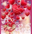 love red letters card realistic happy vector image vector image