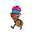 Male Ant Carrying Cupcake and Cookie vector image vector image