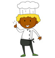 Male chef having thumb up vector image vector image