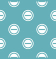 minus pattern seamless blue vector image vector image