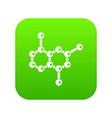 molecule icon digital green vector image vector image
